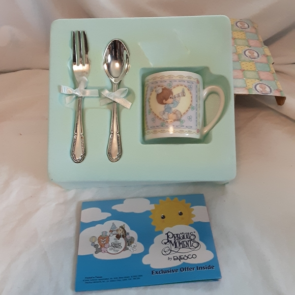 Precious Moments Other - 1996 precious moments baby boy gift set